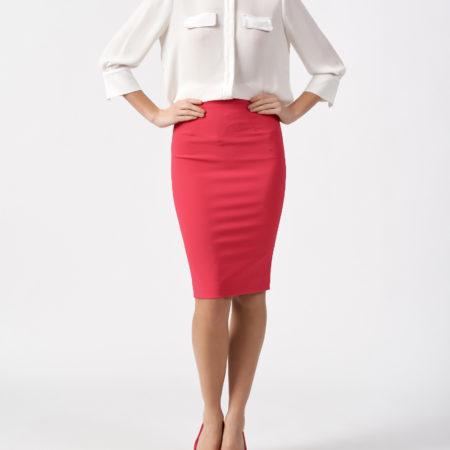 Женская белая блуза с укороченным рукавом ELISABETTA FRANCHI