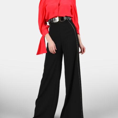 Женская красная шелковая блуза ELISABETTA FRANCHI