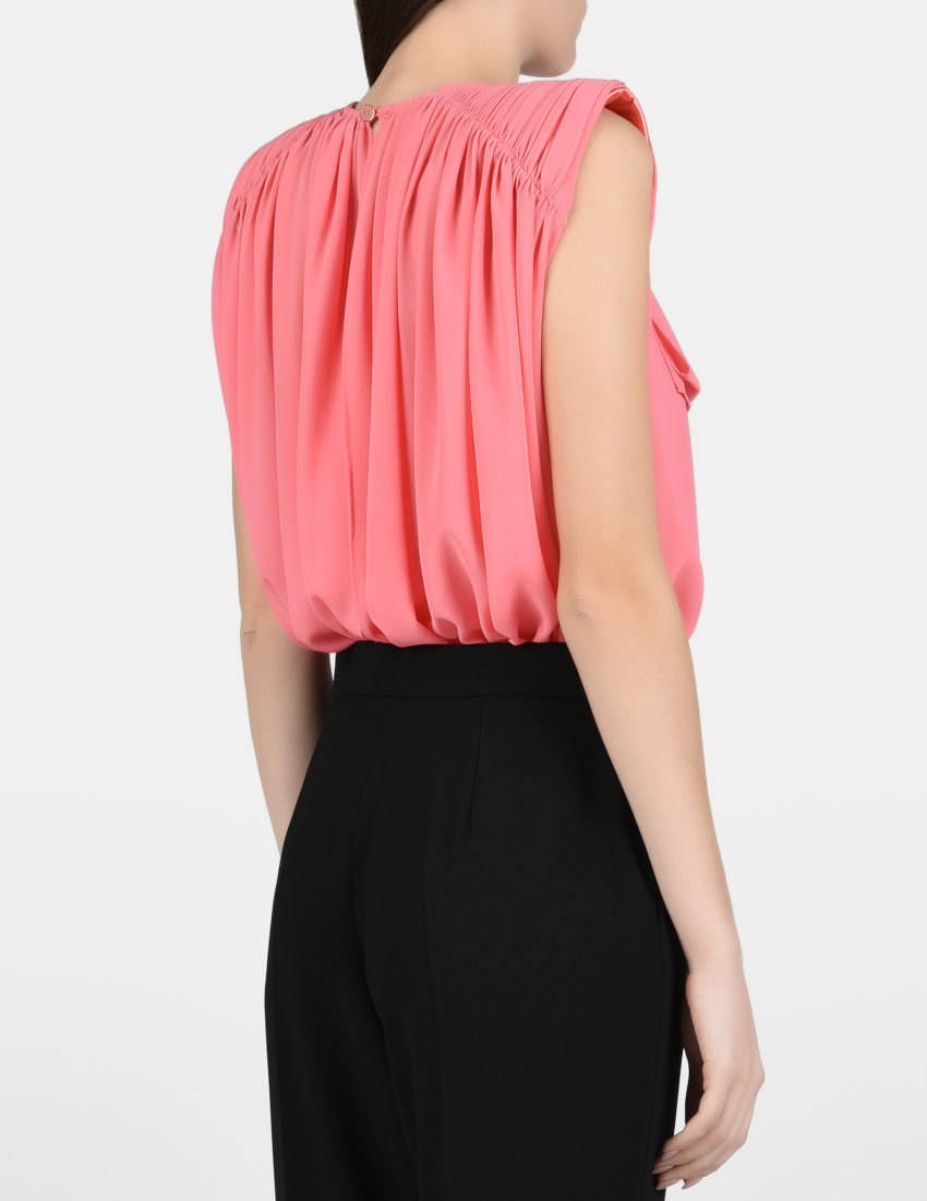 Женская розовая блуза-боди ELISABETTA FRANCHI