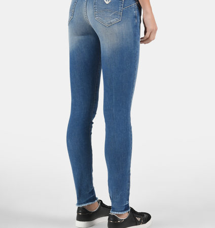 Женские голубые джинсы EMPORIO ARMANI
