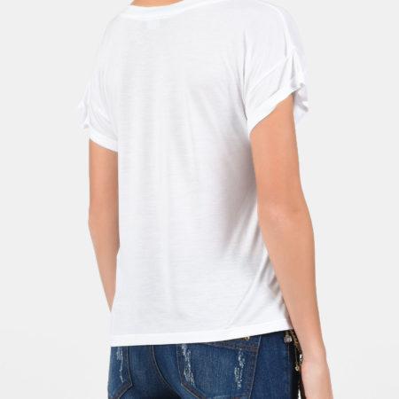 Женская белая футболка ELISABETTA FRANCHI