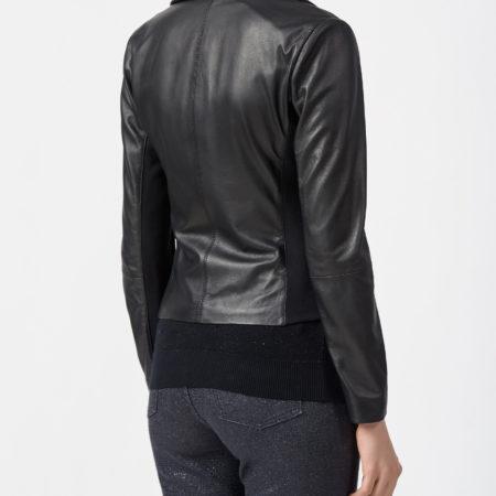 Женская черная куртка-косуха EMPORIO ARMANI