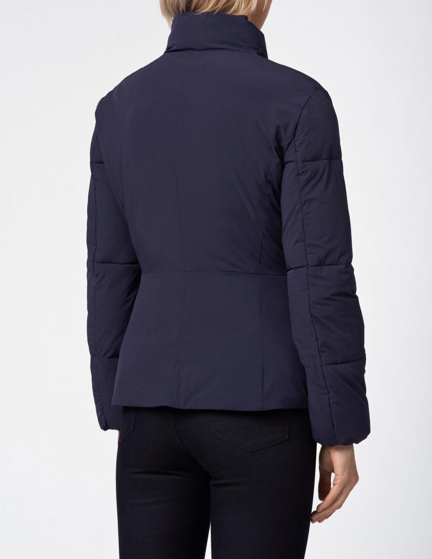 Женская короткая темно-синяя куртка EMPORIO ARMANI