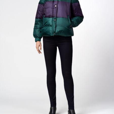 Женская короткая куртка с пуховым воротником EMPORIO ARMANI