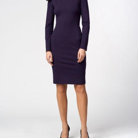 Женское платье цвета баклажан EMPORIO ARMANI