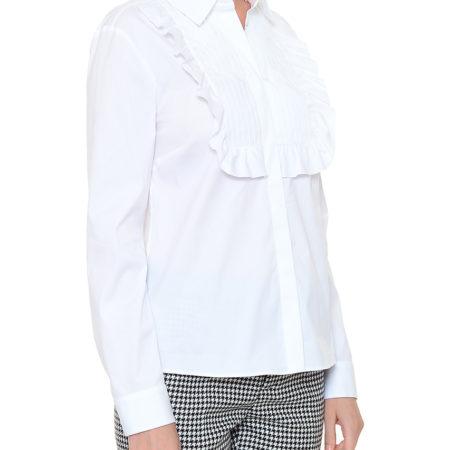 Женская белая блуза с кружевами RED VALENTINO