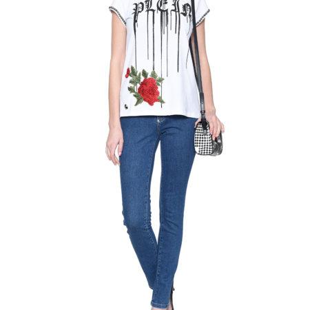 Женская летняя футболка с принтом PHILIPP PLEIN
