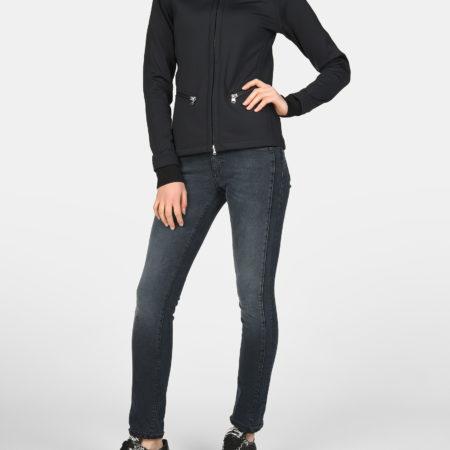 Женская черная кофта на застежке BOGNER