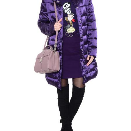 Женская фиолетовая куртка LOVE MOSCHINO