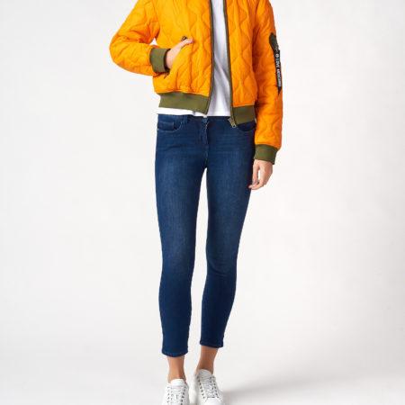 Женская короткая куртка с карманом на рукаве LOVE MOSCHINO
