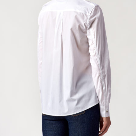 Женская белая рубашка с длинным рукавом LOVE MOSCHINO