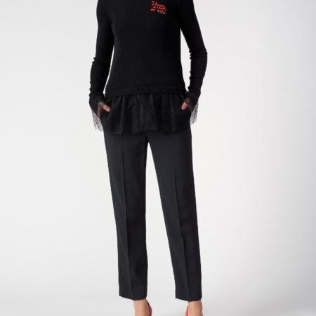 Женские классические черные брюки RED VALENTINO