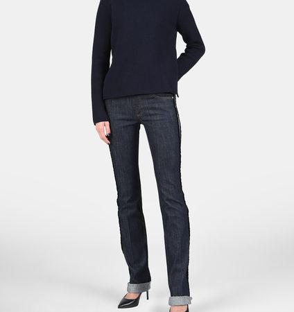 Женские синие джинсы с белыми полосками RED VALENTINO