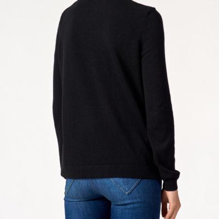Женский черный свитер с рисунком LOVE MOSCHINO
