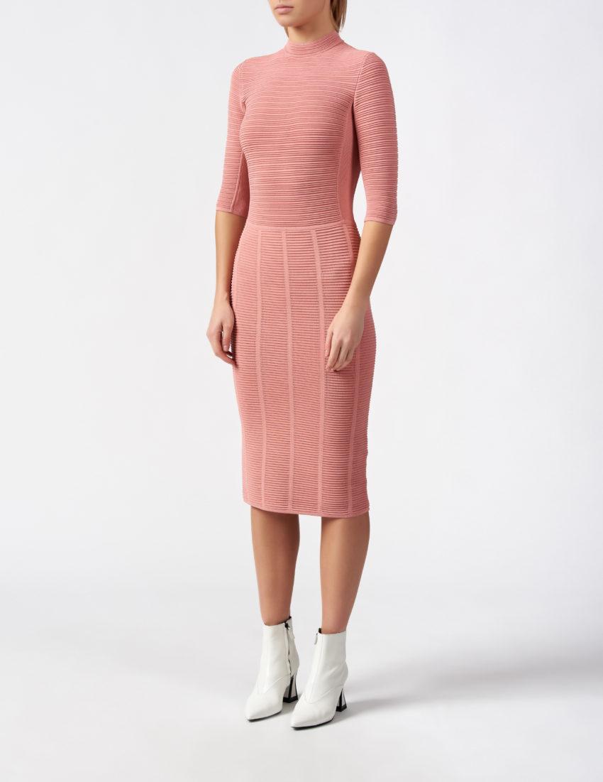 Женское розовое платье EMPORIO ARMANI
